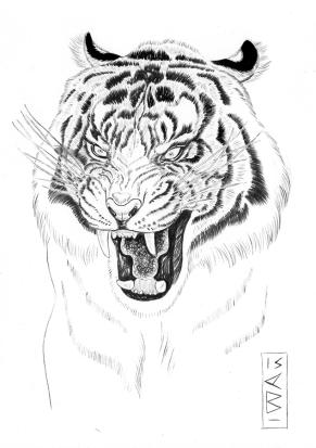 Sumatrian Tiger INktober 2015